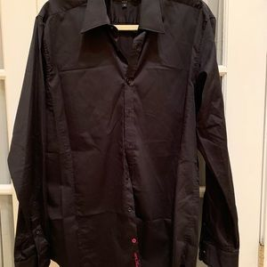 Men's black Ted a baker button down